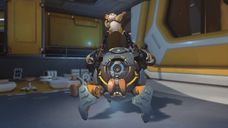 Check out skins, emotes, & more for Overwatch's newest hero, Hammond the Hamster