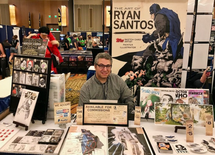 If you've attended New England comic conventions in the past five years, maybe you've met illustrator Ryan Santos.