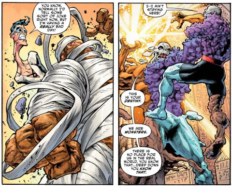 The Terrifics have to fight a town made like Metamorpho. How will they beat this?! And who is Doctor Dread?!