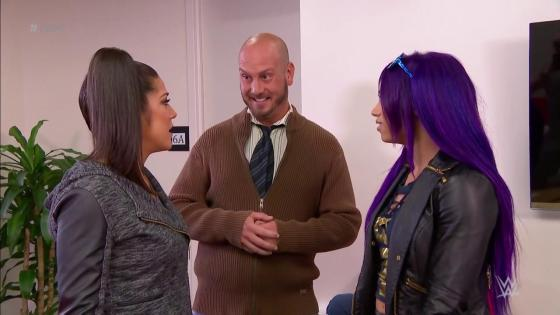 Dr. Shelby returns to help Sasha Banks and Bayley work out their problems on WWE Raw