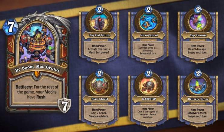 Hearthstone: The Boomsday Project: New Warrior Legendary revealed, Dr. Boom, Mad Genius