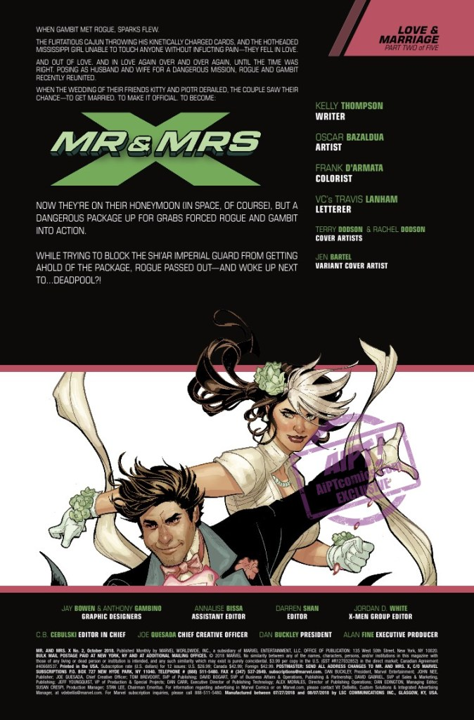 [EXCLUSIVE] Marvel Preview: Mr. and Mrs. X #2