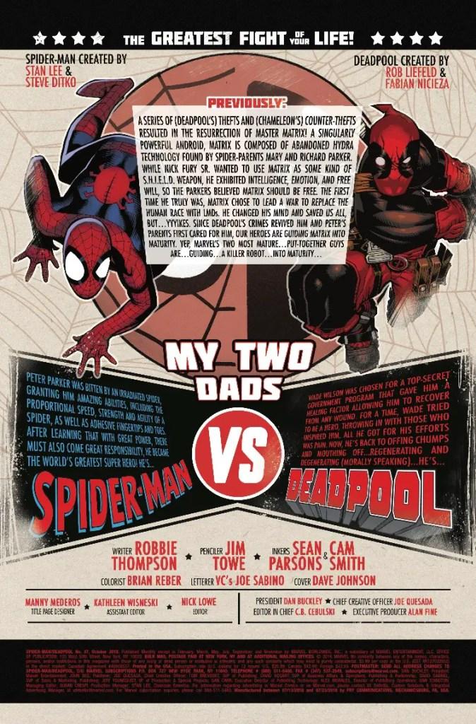 Marvel Preview: Spider-Man/Deadpool #37