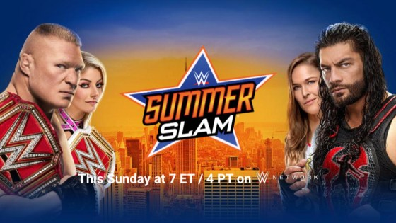 Next to WrestleMania, SummerSlam is generally regarded as the second-biggest pay-per-view in WWE's library (and yes, sigh, the Biggest Party of the Summer). This year's lineup certainly lives up to that billing, with several huge matchups that could have major implications in the stories going forward. If nothing else, a 7pm ET start time and a two hour kickoff show means the show will be colossal from a pure time-spent-watching standpoint. Buckle up for six to seven hours of WWE action, wrestling fans!
