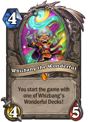 The Boomsday Project: Should Whizbang the Wonderful be allowed in Hearthstone tournaments?  A look at his decks