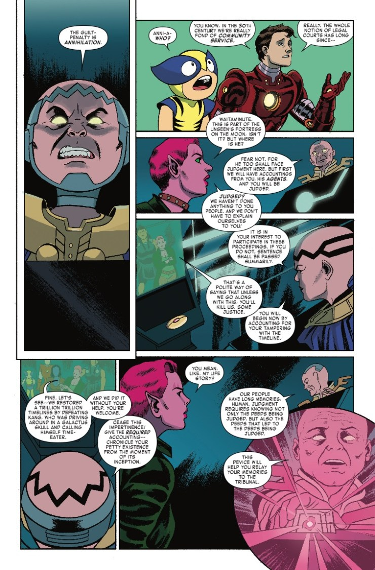 Marvel Preview: Exiles #8 - Rogue Watchers are not pleased