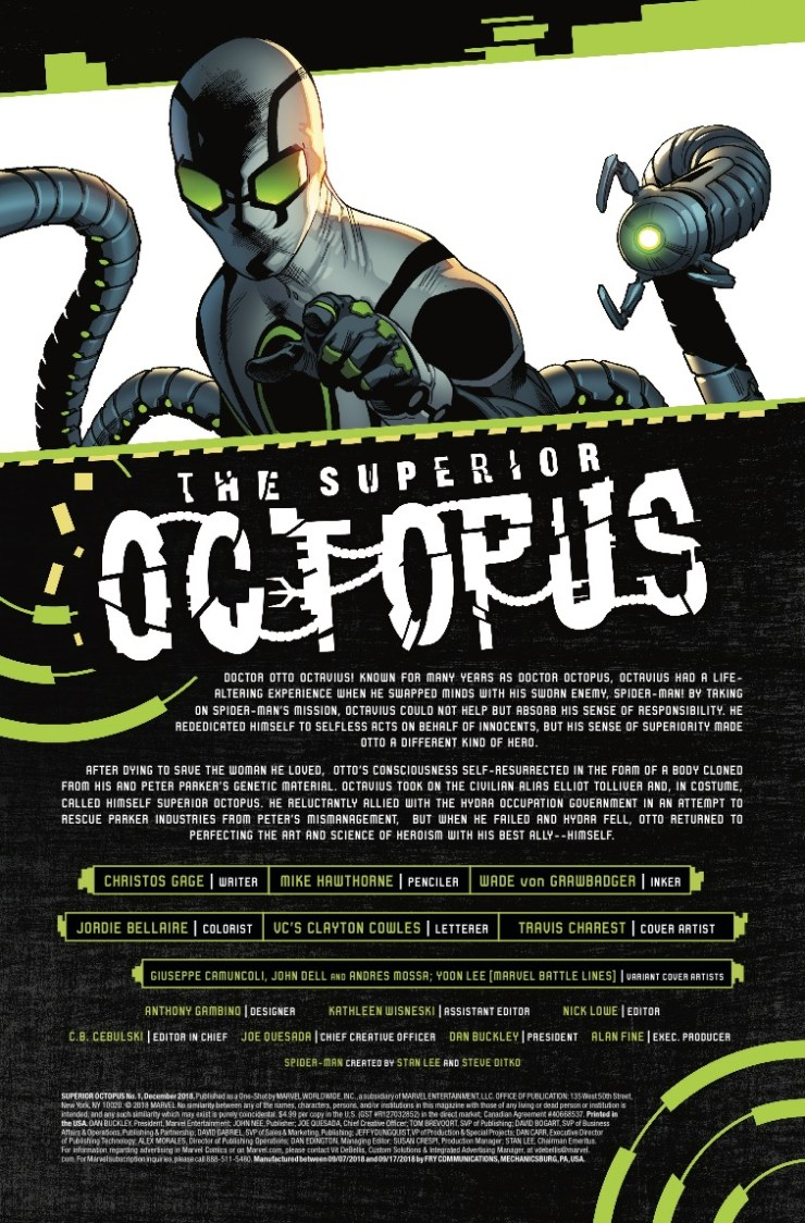 Marvel Preview: Superior Octopus #1