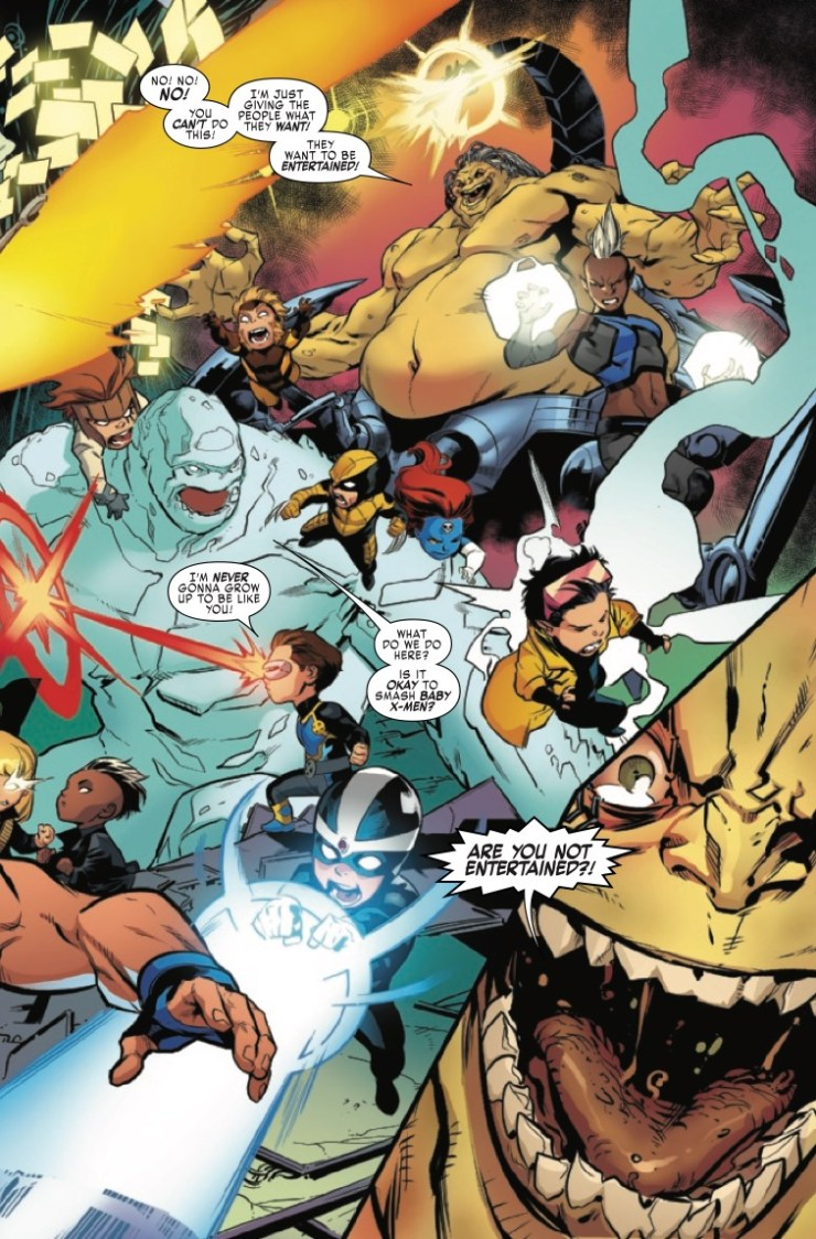The X-Men Blue squad--and writer Cullen Bunn--tie up a few loose ends in this series' final issue.