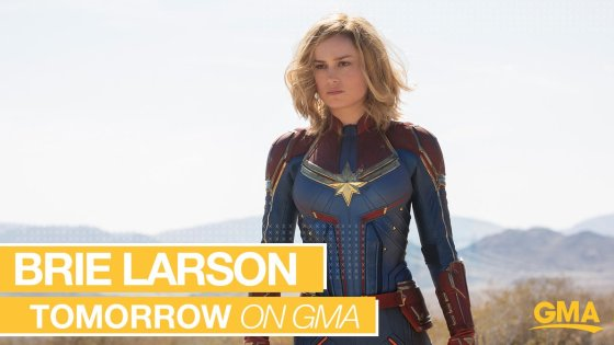 Time to break Good Morning America?  The official Captain Marvel trailer airs tomorrow with Brie Larson's appearance on the show.