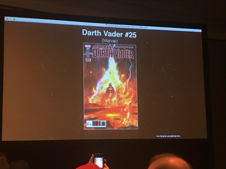 Following in the footsteps of the first volume of Star Wars: Darth Vader, Charles Soule's second volume of the iconic character's comic book series will end with December's Darth Vader #25, Soule confirmed at the Disney-Lucasfilm Publishing panel at New York Comic Con.