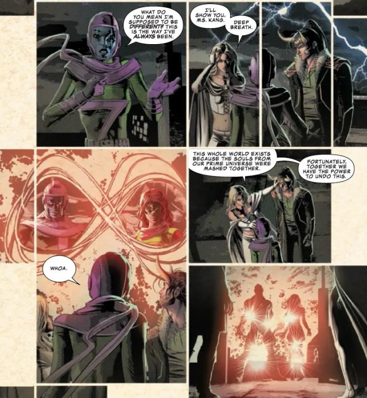 The weirdest Infinity Warp yet is revealed in 'Infinity Wars' #4