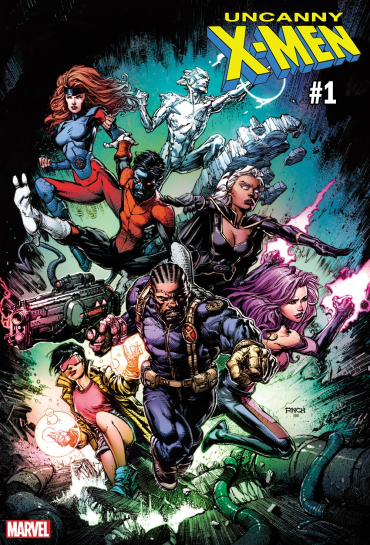 Get in an Uncanny mood with David Finch's excellent Uncanny X-Men #1 variant cover