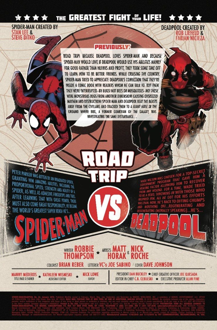 Marvel Preview: Spider-Man/Deadpool #42