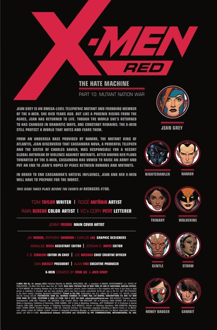 Marvel Preview: X-Men: Red #10 - Jean Grey says humanity's time is over!