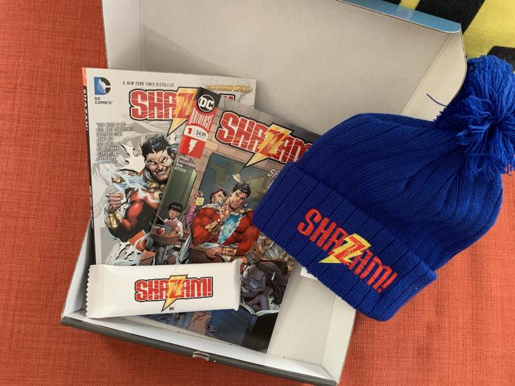 First Look: DC Comics gets into the Shazam! spirit with press gift box
