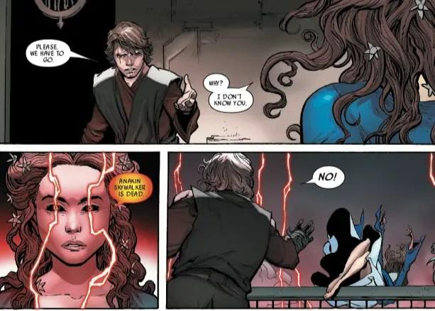 Anakin Skywalker gets one last goodbye with Padme in 'Darth Vader' #25