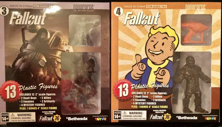 We review Toynk's Fallout Nanoforce Series 1 Army Builder Figure Collection -Boxed Volume 3 & 4.