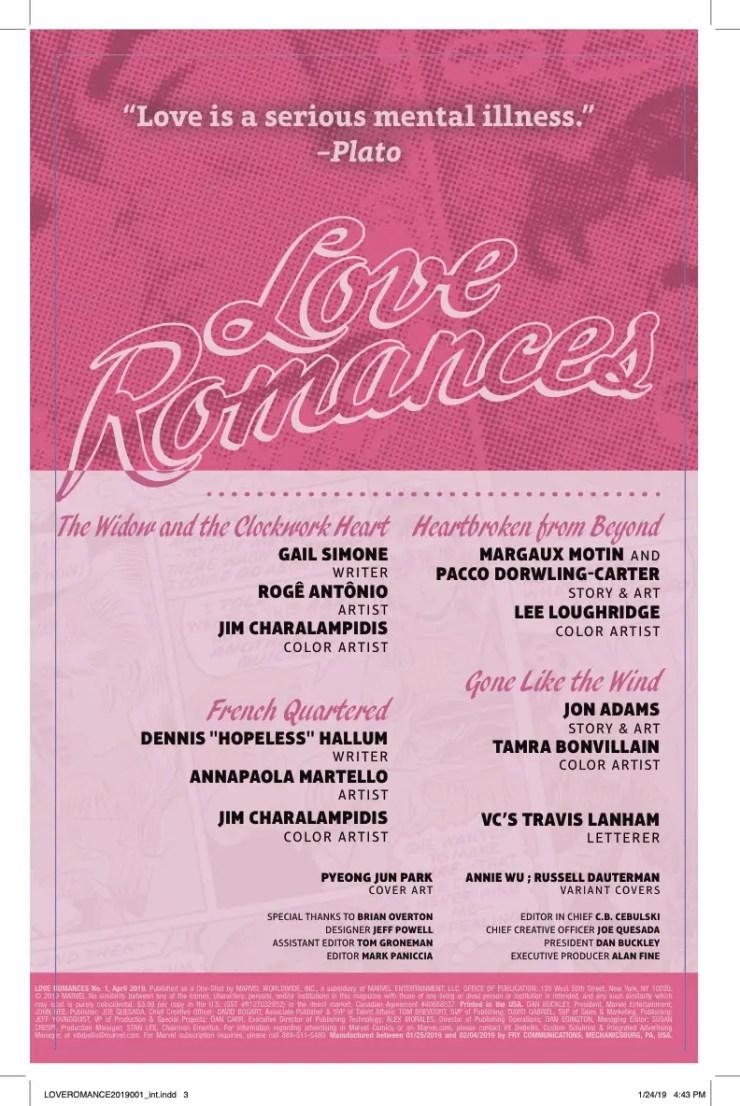 Marvel Preview: Love Romances #1