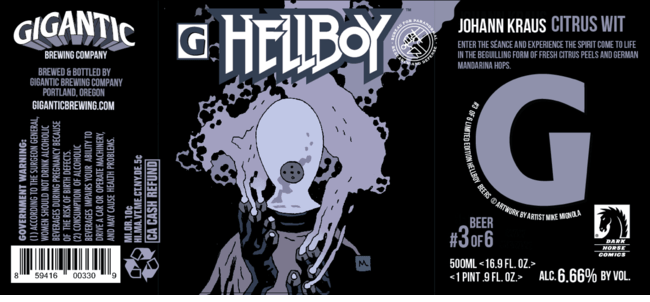 First Look: Hellboy beer gets 666 cases from Gigantic Brewing and Dark Horse Comic