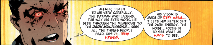 Learn how (and what) the Batman Who Laughs sees in 'The Batman Who Laughs' #4