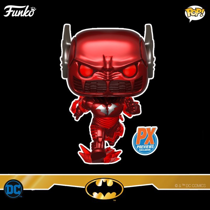 The Dark Knights: Metal Batman Red Death Pop! exclusive now available for pre-order