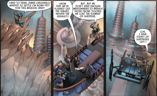 How Greedo, Jedi Ki-Adi-Mundi, and Jabba the Hutt converge in 'Star Wars: Galaxy's Edge' #2