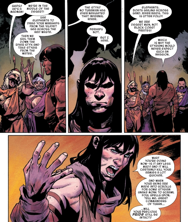 Discover another new dimension of Conan's character in this issue.