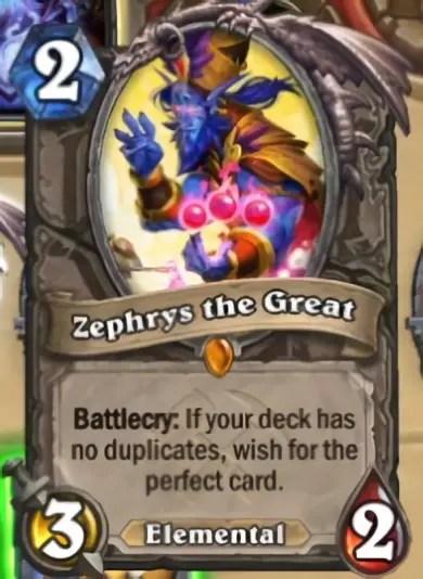 Hearthstone: Saviors of Uldum: Zephrys the Great, new Legendary minion revealed