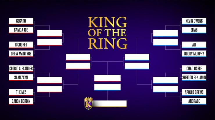 WWE reveals 2019 King of the Ring bracket