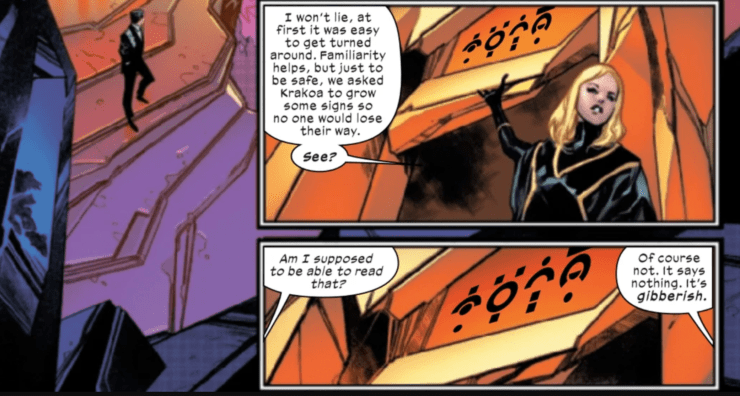 Learn everything you need to know about the mutant Krakoan language from 'House of X' #3