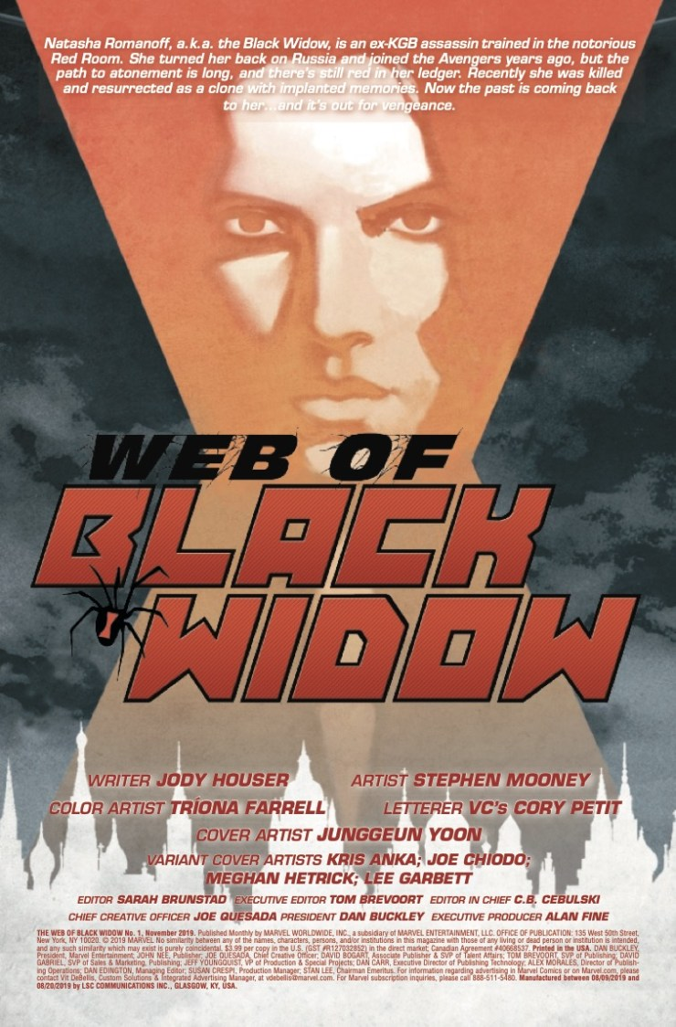 Marvel Preview: The Web of Black Widow #1