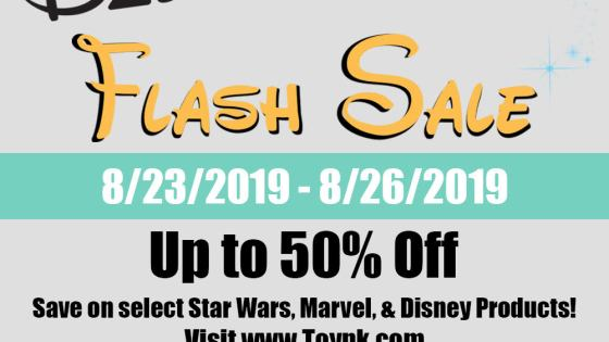 Toynk announces D23 flash sale on Star Wars, Marvel, and Disney products