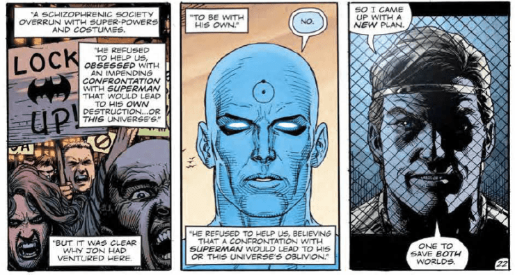 The purpose of Doomsday Clock explained through Ozymandias' plans in 'Doomsday Clock' #11