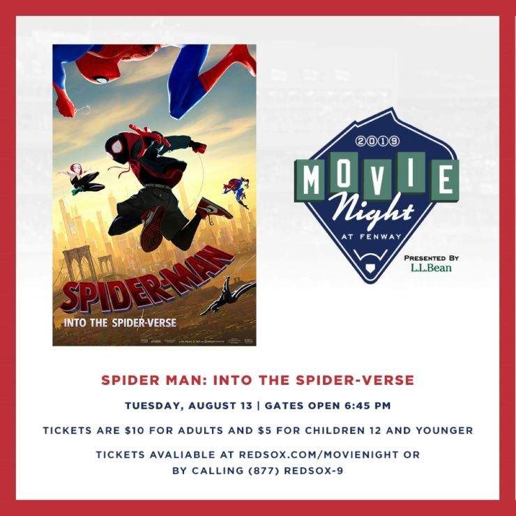 Don't miss your chance to watch 'Spider-Man: Into the Spiderverse' at Fenway Park