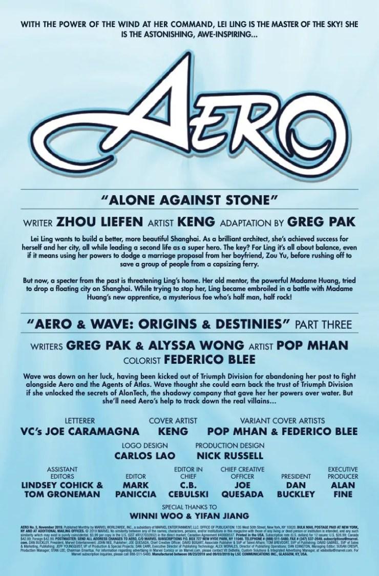 Marvel Preview: Aero #3