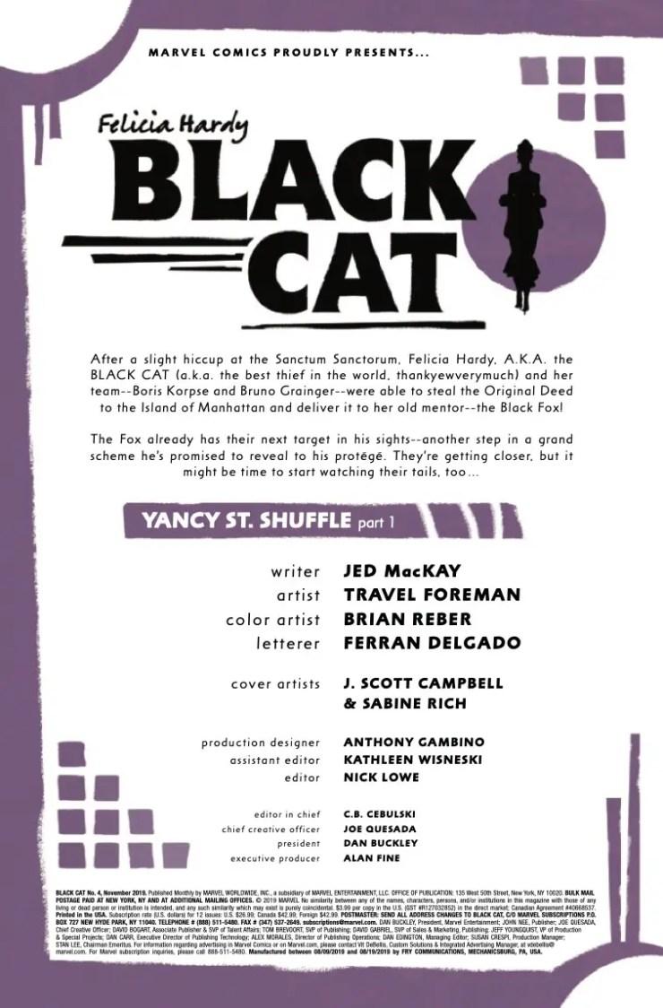 Marvel Preview: Black Cat #4