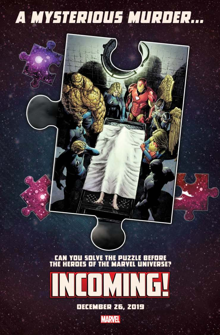 Marvel Comics releases cryptic murder mystery promo