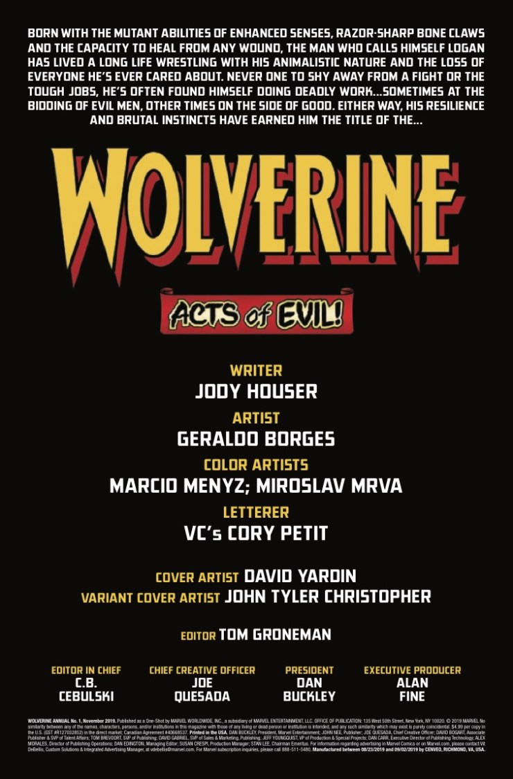 Marvel Preview: Wolverine Annual #1