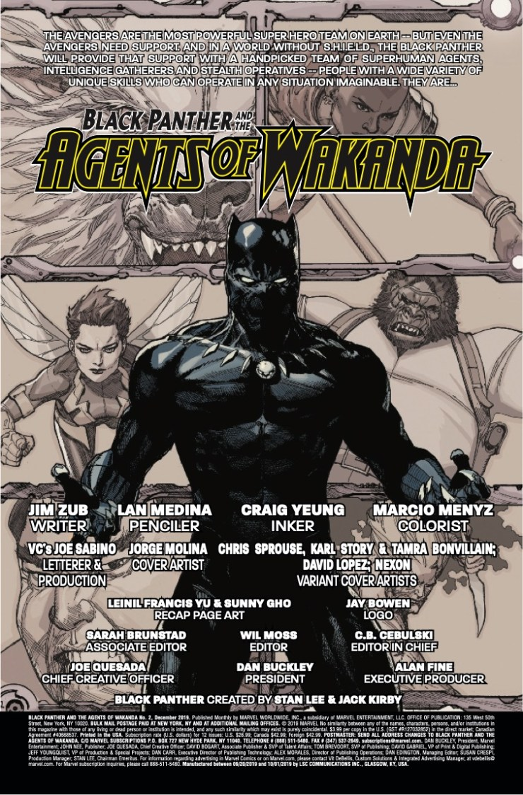 Marvel Preview: Black Panther and the Agents of Wakanda #2