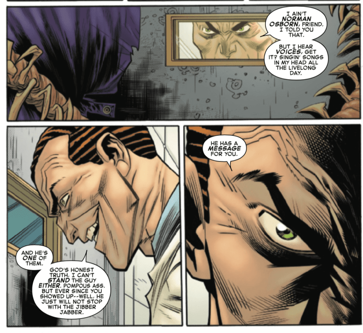 What do Green Goblin's truths about new Spider-Man villain Kindred mean in 'Amazing Spider-Man' #31?
