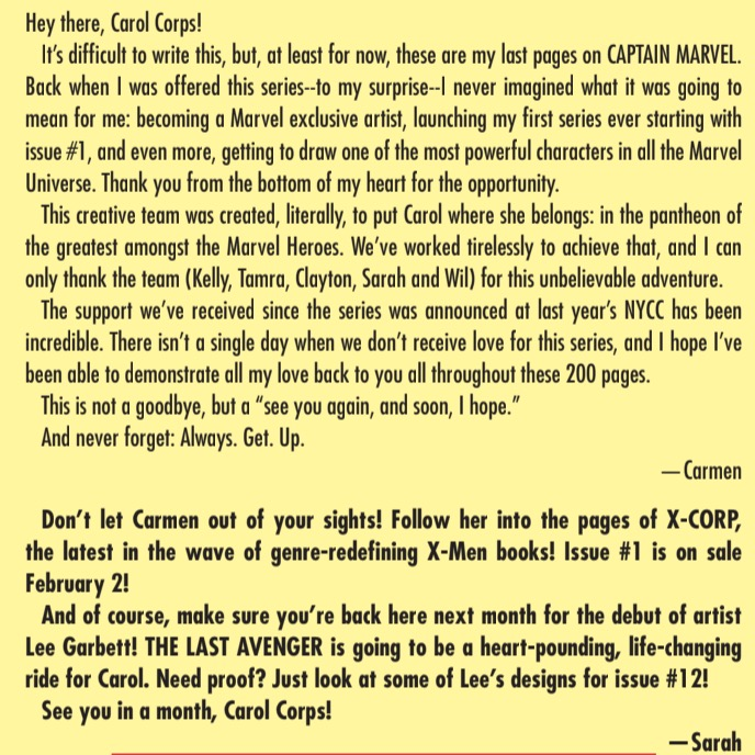 New Dawn of X series announced in 'Captain Marvel' #11 letters