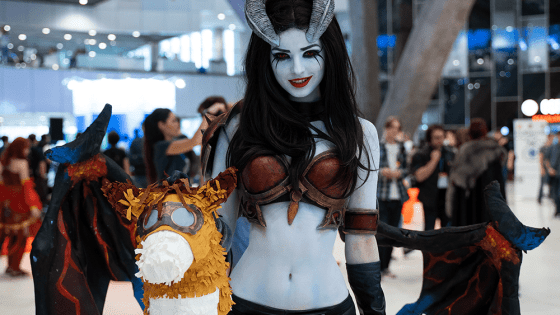 The Blinking, Shadow Striking Queen of Pain from Dota 2 comes to life courtesy of Alice Spiegel.