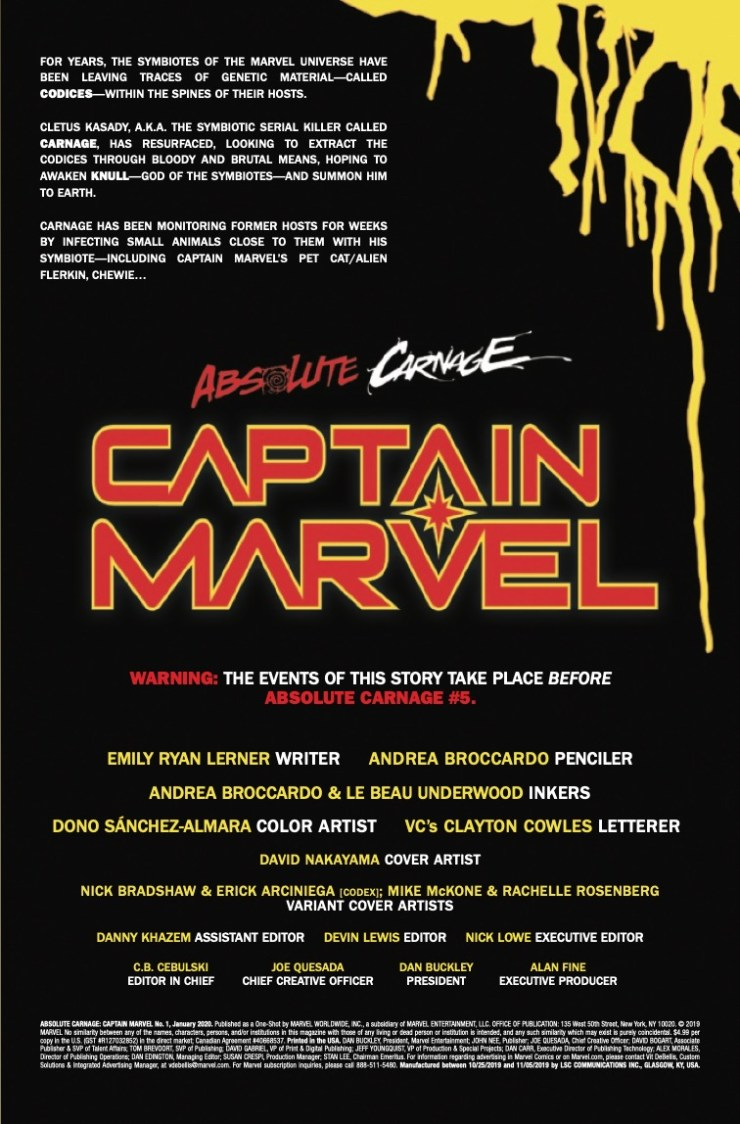 Marvel Preview: Absolute Carnage: Captain Marvel #1