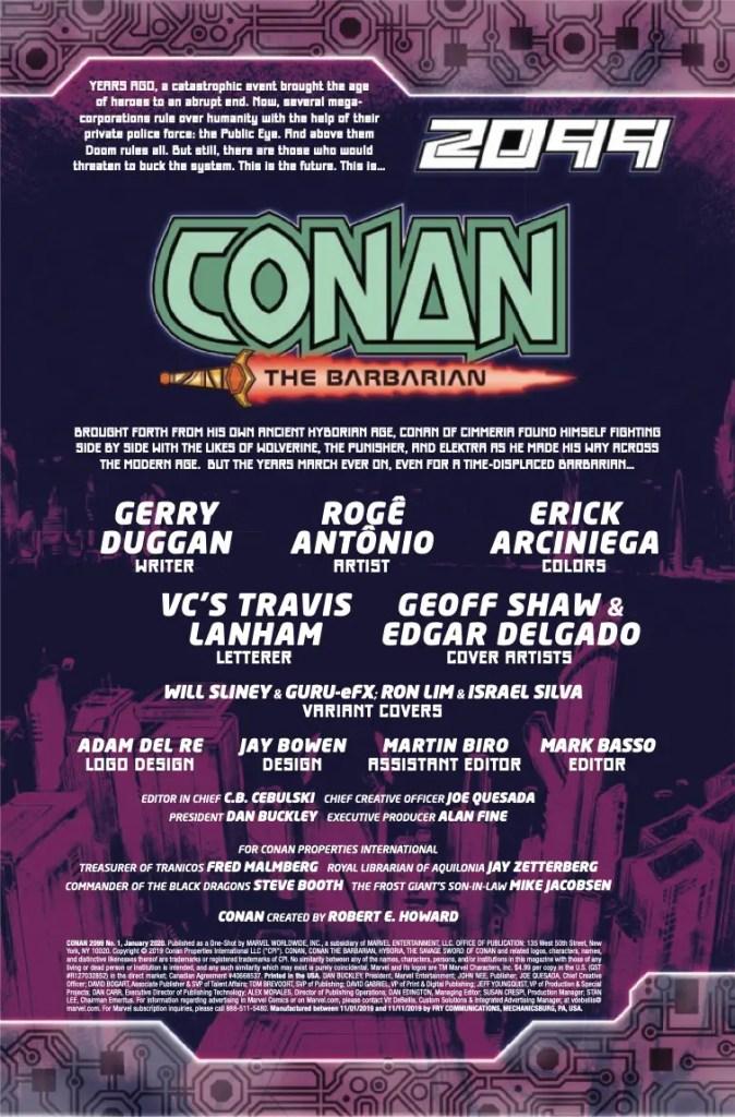 Marvel Preview: Conan 2099 #1
