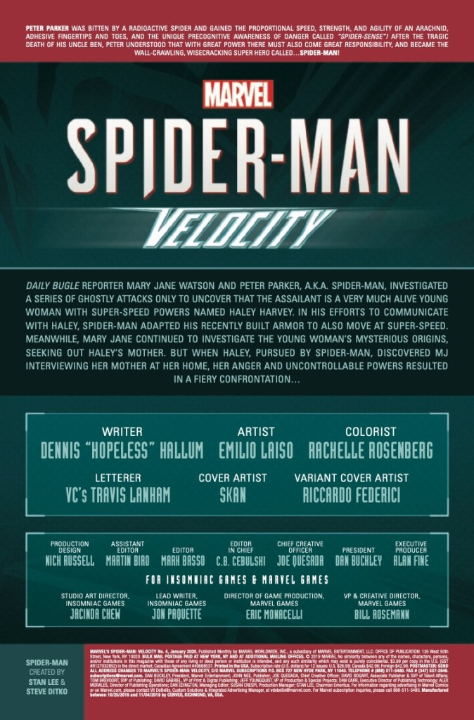 Marvel Preview: Marvel's Spider-Man: Velocity (2019-) #4 (of 5)