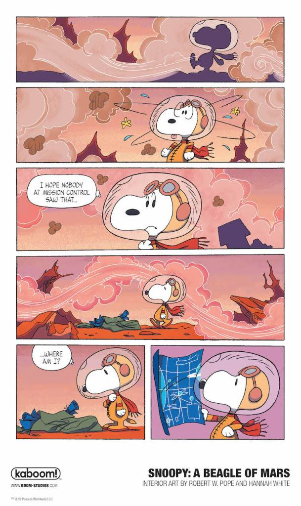 BOOM! Preview: Snoopy: A Beagle of Mars
