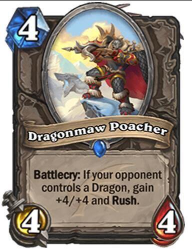 Hearthstone: Descent of Dragons: Dragonmaw Poacher, new neutral minion revealed