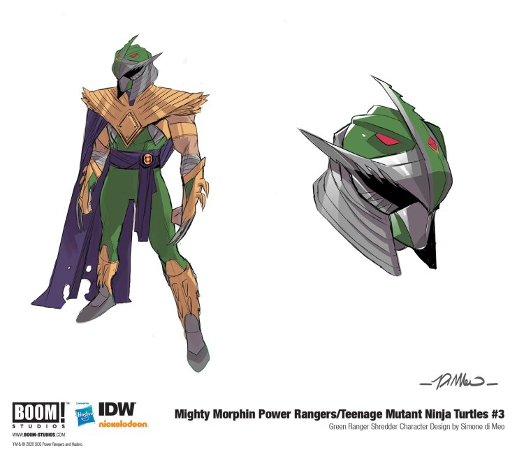Say hello to the Green Ranger Shredder: the Power Rangers/Ninja Turtles supervillain you didn't know you needed