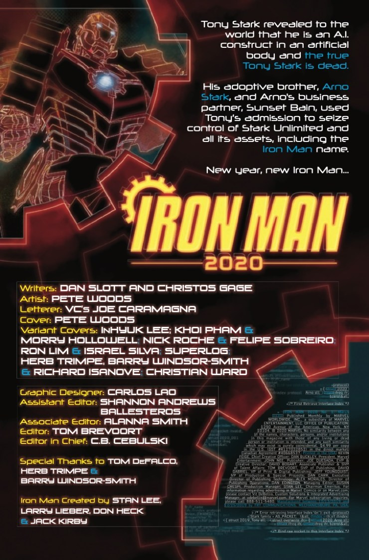 Marvel Preview: Iron Man 2020 (2020) #1: Director's Cut