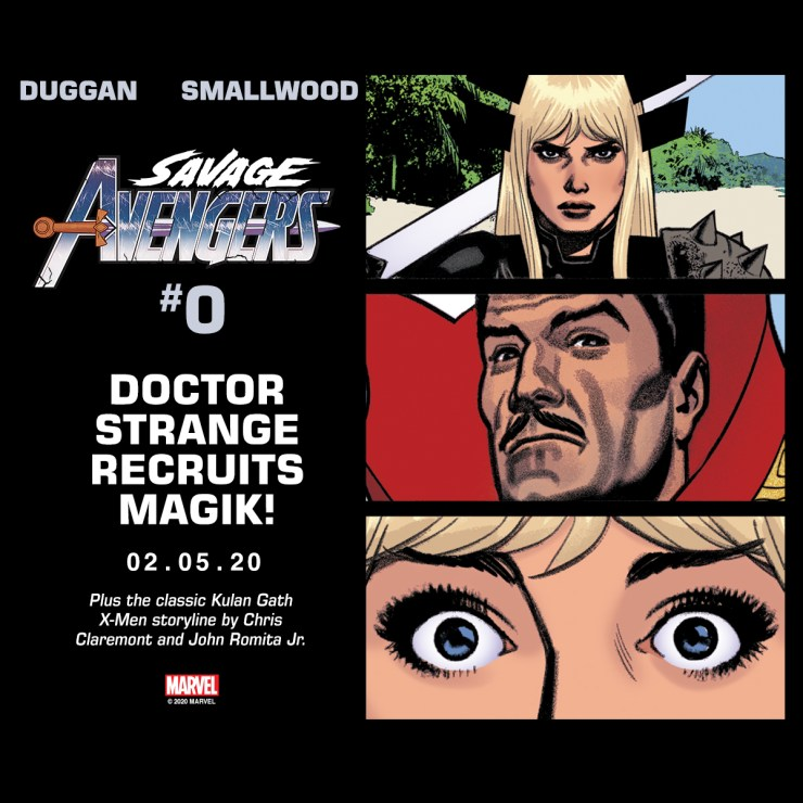 Magik + Savage Avengers #0 + Doctor Strange this February 5, 2020